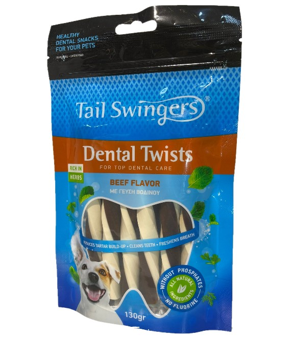 Pet Interest Tail Swingers Milk Twisters With Beef For M/L Dogs