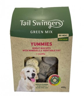 Pet Interest Tail Swingers Green Mix Yummies  - Vegetarian Dog Biscuits