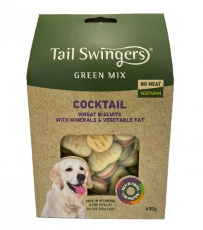 Pet Interest Tail Swingers Green Mix Cocktail - Vegetarian Dog Biscuits