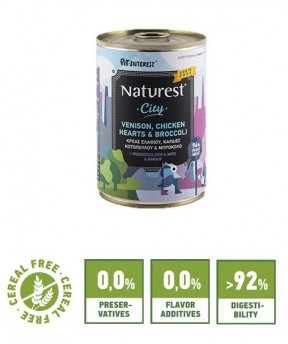 Pet Interest Naturest City Formula with Venison, Chicken and Broccoli (6 Cans)