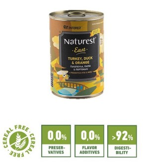Pet Interest Naturest East Formula with Turkey, Duck and Orange (6 Cans)