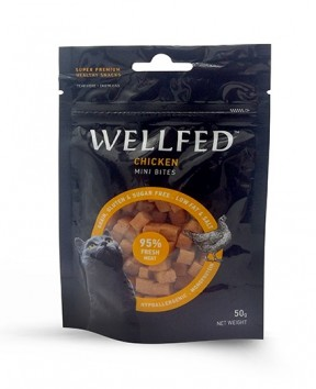 Pet Interest Wellfed Healthy Snacks Chicken Bites For Cats