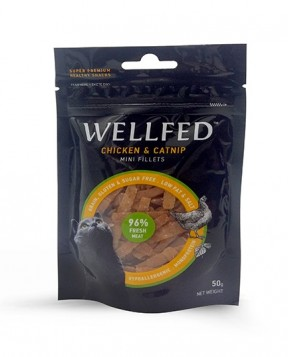 Pet Interest  Wellfed Healthy Snacks For Cat, Chicken with Catnip