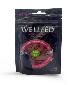 Pet Interest Wellfed Healthy Snacks Duck and Catnip Mini Fillets for Cats