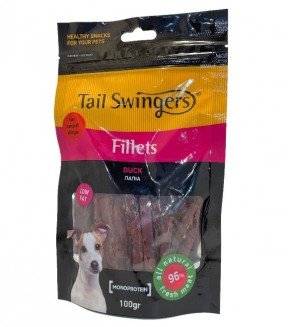 Pet Interest Tail Swingers Fillets - Small Bites Soft Duck Slices