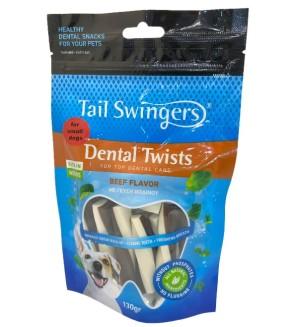 Pet Interest Tail Swingers Dental Twists - Beef Flavor Small Bites