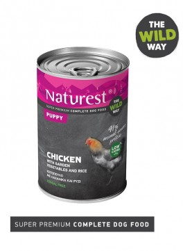 Pet Interest Naturest Chicken with Garden Vegetables for Puppy (6 Cans)