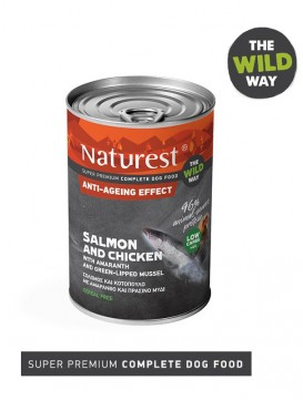 Pet Interest Naturest Anti-Ageing Effect with Salmon and Chicken (6 Cans)