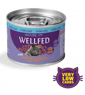 Pet Interest Wellfed Sterilised Mature 7+ Formula with Poultry & mussel (6 Cans)