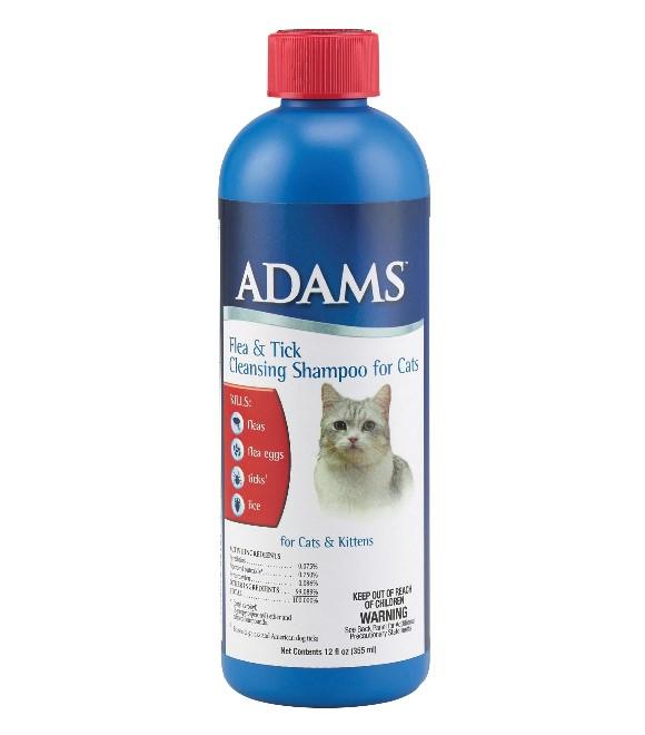 Adams Flea and Tick Cat Shampoo