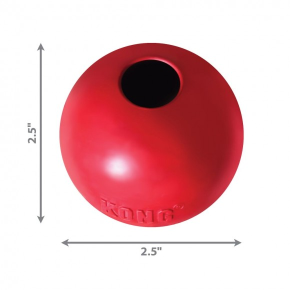 KONG Ball Dog Toy Red