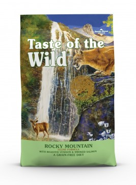 Taste of the Wild Rocky Mountain Feline Recipe with Roasted Venison & Smoked Salmon Dry Cat Food