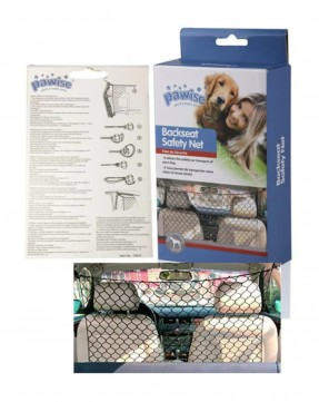 Pawise Car Back Seat Barrier Safety Net for cats and dogs