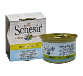 Schesir Canned Cat food Tuna with Red Mullet (14 Cans)