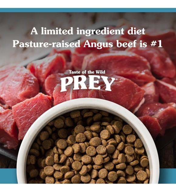 Taste Of The Wild Prey Angus Beef Limited Ingredient Recipe Dry Dog Food