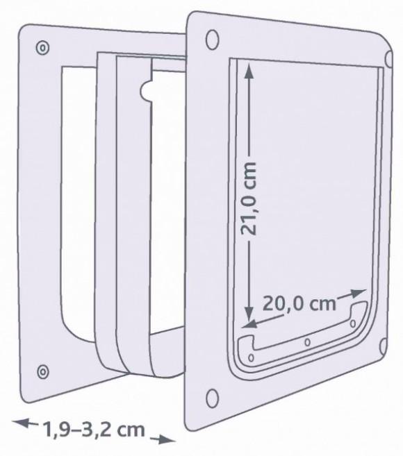 Trixie 2 Way Dog Flap Door (XSmall - Small)
